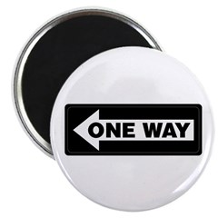 One Way Sign - Left - 2.25