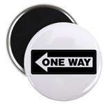 One Way Sign - Left - Magnet