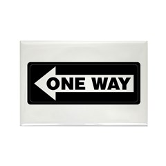 One Way Sign - Left - Rectangle Magnet (100 pack)