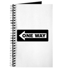 One Way Sign - Left - Journal