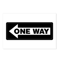 One Way Sign - Left - Postcards (Package of 8)
