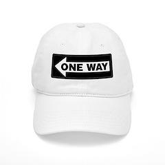 One Way Sign - Left - Baseball Cap