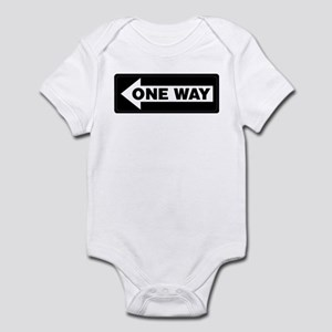 One Way Sign - Left - Infant Creeper