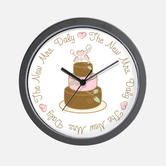 The New Mrs. Daly Personalized Wall Clock