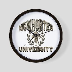 McWhorter Name University Personalized Wall Clock