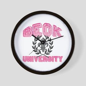 Beck Last Name University Wall Clock
