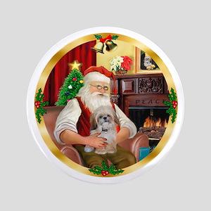 "Santa's Shih Tzu (Paddy) 3.5"" Button"