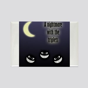 Nightmare w/ Triplets Rectangle Magnet