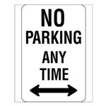 No Parking Any Time Sign - Small Poster