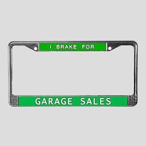 I Brake for Garage Sales License Plate Frame