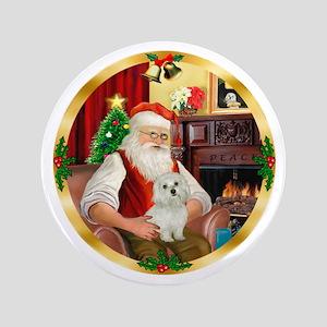 """Santa's Maltese 11 3.5"""" Button"""