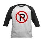 No Parking Sign Kids Baseball Jersey