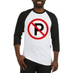 No Parking Sign Baseball Jersey