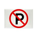 No Parking Sign - Rectangle Magnet (10 pack)