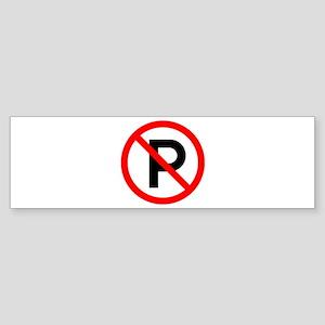 No Parking Sign - Bumper Sticker