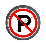 No Parking Sign - Wall Clock