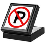 No Parking Sign - Keepsake Box