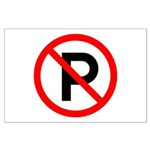 No Parking Sign - Large Poster