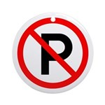 No Parking Sign - Keepsake (Round)