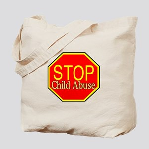 Stop Abuse Tote Bag