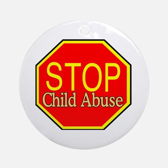 Stop Abuse Ornament (Round)