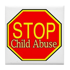 Stop Abuse Tile Coaster