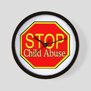 Stop Abuse Wall Clock