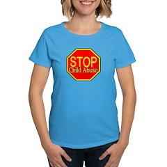 Stop Abuse Women's Dark T-Shirt