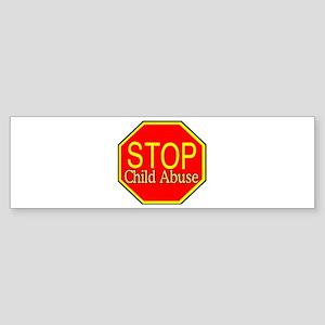 Stop Abuse Bumper Sticker