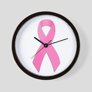Pink Ribbon Wall Clock