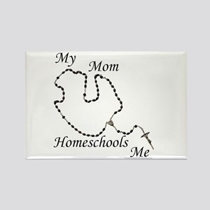Home School Rosary Rectangle Magnet
