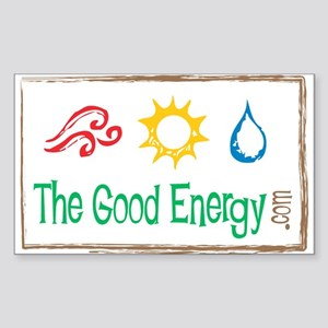 The Good Energy - Logo Rectangle Sticker
