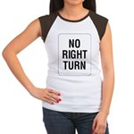 No Right Turn Sign Women's Cap Sleeve T-Shirt