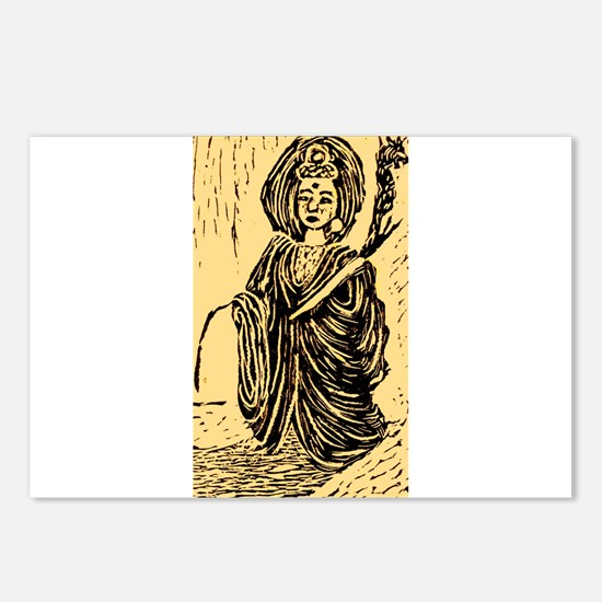 Unique Kuan yin Postcards (Package of 8)