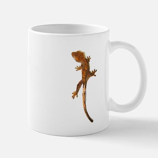 """Crested Gecko Climbing"" Mug"
