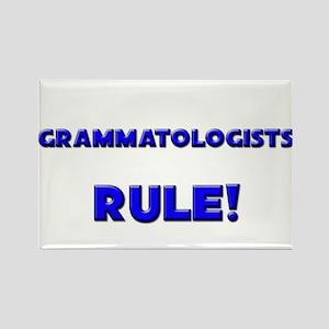 Grammatologists Rule! Rectangle Magnet