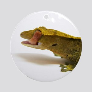 Crested Gecko eye lick Ornament (Round)