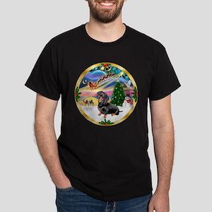 XmasMagic/Dachshund #4 Dark T-Shirt