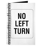 No Left Turn Sign - Journal