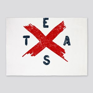 Texas State Flag TX Pride 5'x7'Area Rug