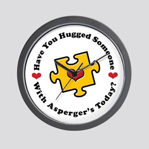 Have You Hugged Asperger's Wall Clock