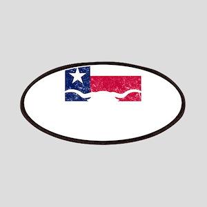 Texas Styate Flag Longhorn Patch