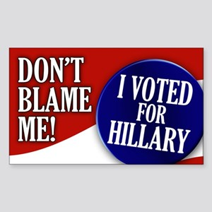 I Voted for Hillary Rectangle Sticker
