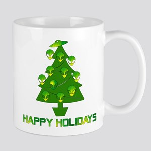 Alien Christmas Tree 11 oz Ceramic Mug