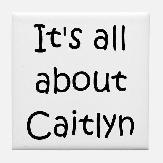 Cute Caitlyn Tile Coaster