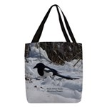 Black Billed Rocky Mountain Polyester Tote Bag