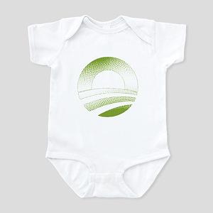 Obama Logo Green Gradient-Rough Edges Infant Bodys