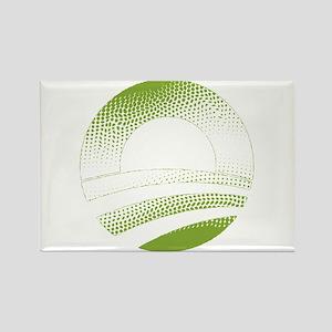 Obama Logo Green Gradient-Rough Edges Rectangle Ma