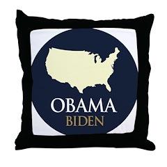 Obama/Biden USA-6 Throw Pillow