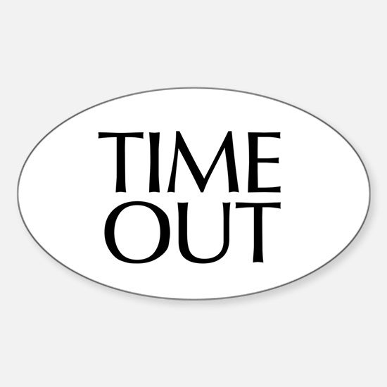 Time Out McCain Oval Decal